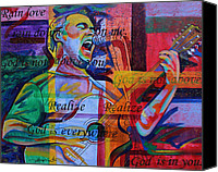 Singer Painting Canvas Prints - Dave Matthews Bartender Canvas Print by Joshua Morton