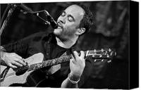 Dave Canvas Prints - Dave Matthews on Guitar 2 Canvas Print by The  Vault