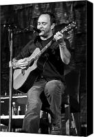 Dave Canvas Prints - Dave Matthews on Guitar 9  Canvas Print by The  Vault