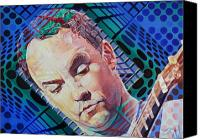 Singer Painting Canvas Prints - Dave Matthews Open Up My Head Canvas Print by Joshua Morton
