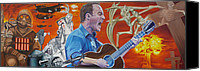 Dave Canvas Prints - Dave Matthews The Last Stop Canvas Print by Joshua Morton