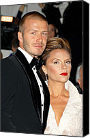 Metropolitan Museum Of Art Costume Institute Canvas Prints - David Beckham And Victoria Beckham Canvas Print by Everett