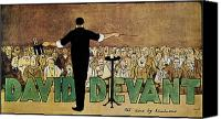 Magician Drawings Canvas Prints - DAVID DEVANT POSTER c1910 Canvas Print by Granger