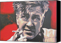 David Lynch Canvas Prints - David Lynch Canvas Print by Luis Ludzska