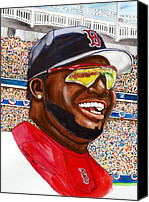 Mlb Painting Canvas Prints - David Ortiz Canvas Print by Dave Olsen