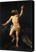 Legend Canvas Prints - David Victorious Canvas Print by Jean Jacques II Lagrenee