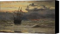 Shipwreck Painting Canvas Prints - Dawn After the Storm Canvas Print by William Lionel Wyllie