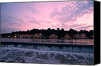 Boathouse Row Canvas Prints - Dawn at Boathouse Row Canvas Print by Bill Cannon