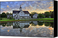 Star Barn Canvas Prints - Dawn At The Star Barn Canvas Print by Dan Myers