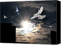 Terry Wallace Digital Art Canvas Prints - Dawn Flight Canvas Print by Terry Wallace