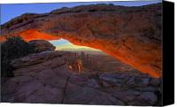 Mesa Arch Canvas Prints - Dawns Early Light Canvas Print by Mike  Dawson