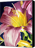 Day Lily Flowers Canvas Prints - Day Lily in Sunlight Canvas Print by Janis Grau