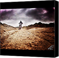 Instagram Canvas Prints - Day Off Rippin #mx In Norms Backyard Canvas Print by Kyle Czapski