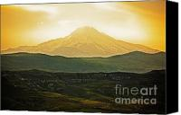 Volcano Canvas Prints - Daybreak Canvas Print by Andrew Paranavitana