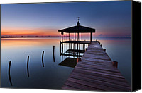 Florida Bridges Canvas Prints - Daybreak Canvas Print by Debra and Dave Vanderlaan