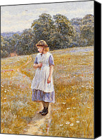Daydreamer Canvas Prints - Daydreamer Canvas Print by Helen Allingham