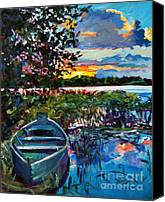 Impressionism Canvas Prints - Days End Canvas Print by David Lloyd Glover
