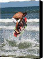 Boogie Canvas Prints - Daytona Beach Canvas Print by LaMarre Labadie