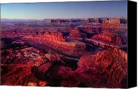 Dawn Canvas Prints - Dead Horse Point Canvas Print by Wade Aiken