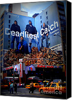 Cities Mixed Media Canvas Prints - Deadliest Catch New Yorks Duane Reade Building Canvas Print by Ms Judi