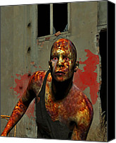 Zombie Digital Art Canvas Prints - Deadling II Canvas Print by Jean Gugliuzza