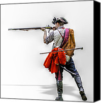American Revolution Special Promotions - Deadly Intent  Canvas Print by Randy Steele