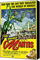 1950s Poster Art Canvas Prints - Deadly Mantis, The, Alix Talton, Craig Canvas Print by Everett