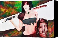 Decapitation Canvas Prints - Death of an Ex Canvas Print by Jenipher Chandley