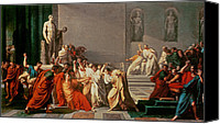 Brutus Canvas Prints - Death of Julius Caesar Canvas Print by Vincenzo Camuccini