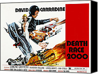 Horror Movies Canvas Prints - Death Race 2000, From Left Simone Canvas Print by Everett