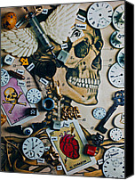 Dial Photo Canvas Prints - Death Skull Canvas Print by Garry Gay