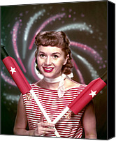 Debbie Canvas Prints - Debbie Reynolds, 1950s Canvas Print by Everett