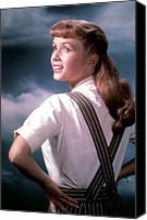Debbie Canvas Prints - Debbie Reynolds In The 1950s Canvas Print by Everett