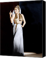 Gold Lame Canvas Prints - Decameron Nights, Joan Fontaine, 1953 Canvas Print by Everett