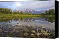 Daybreak Canvas Prints - Deceptive Calm Canvas Print by Idaho Scenic Images Linda Lantzy