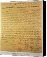 Founding Fathers Painting Canvas Prints - Declaration of Independence Canvas Print by American School