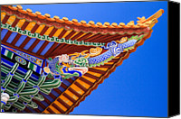 Dali Canvas Prints - Decorated Eaves, Chongsheng Temple Canvas Print by Feng Wei Photography