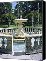 Roanoke Island Canvas Prints - Decorative Fountain In An Canvas Print by Vlad Kharitonov
