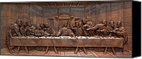 Decorative Reliefs Canvas Prints - Decorative Panel - Last Supper Canvas Print by Goran