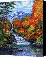 Most Liked Canvas Prints - Deep Falls in Autumn Canvas Print by David Lloyd Glover