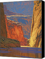 Landscape Painting Canvas Prints - Deep in the Canyon Canvas Print by Cody DeLong