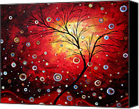 Red Crimson Canvas Prints - Deep Red by MADART Canvas Print by Megan Duncanson