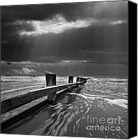 Storm Photo Canvas Prints - Defensive Canvas Print by Meirion Matthias