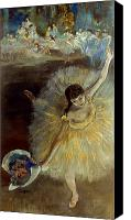 Women Canvas Prints - Degas: Arabesque, 1876-77 Canvas Print by Granger