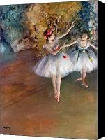 Ballet Art Canvas Prints - DEGAS: DANCERS, c1877 Canvas Print by Granger