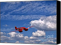 Dh Canvas Prints - DeHAVILLAND DH.88 COMET Canvas Print by Peter Chapman