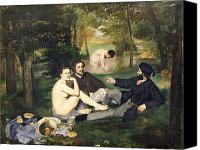 Impressionist Canvas Prints - Dejeuner sur l Herbe Canvas Print by Edouard Manet
