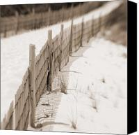 Sand Fences Canvas Prints - Delaware Dunes Number Eight  Canvas Print by Bob Coates