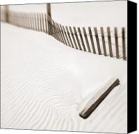 Sand Fences Canvas Prints - Delaware Dunes Number Five Canvas Print by Bob Coates