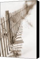 Sand Fences Canvas Prints - Delaware Dunes Number Twelve Canvas Print by Bob Coates